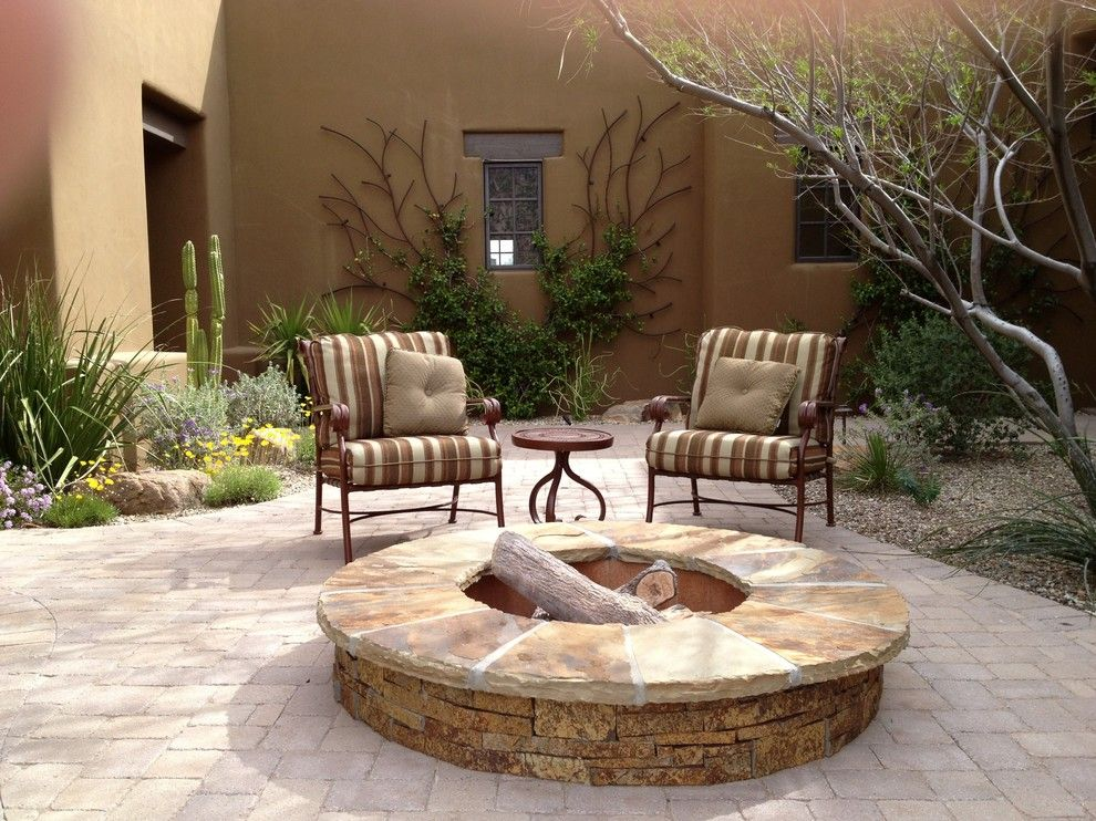 Lowes Paso Robles for a Southwestern Patio with a Pavers and Fire by Outdoor Lifestyles by Par