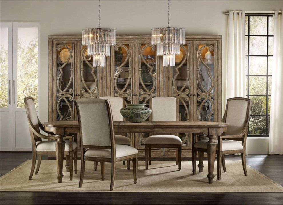 Lowes Paso Robles For A Traditional Dining Room With A Light Wood And  Hooker Furniture Solana