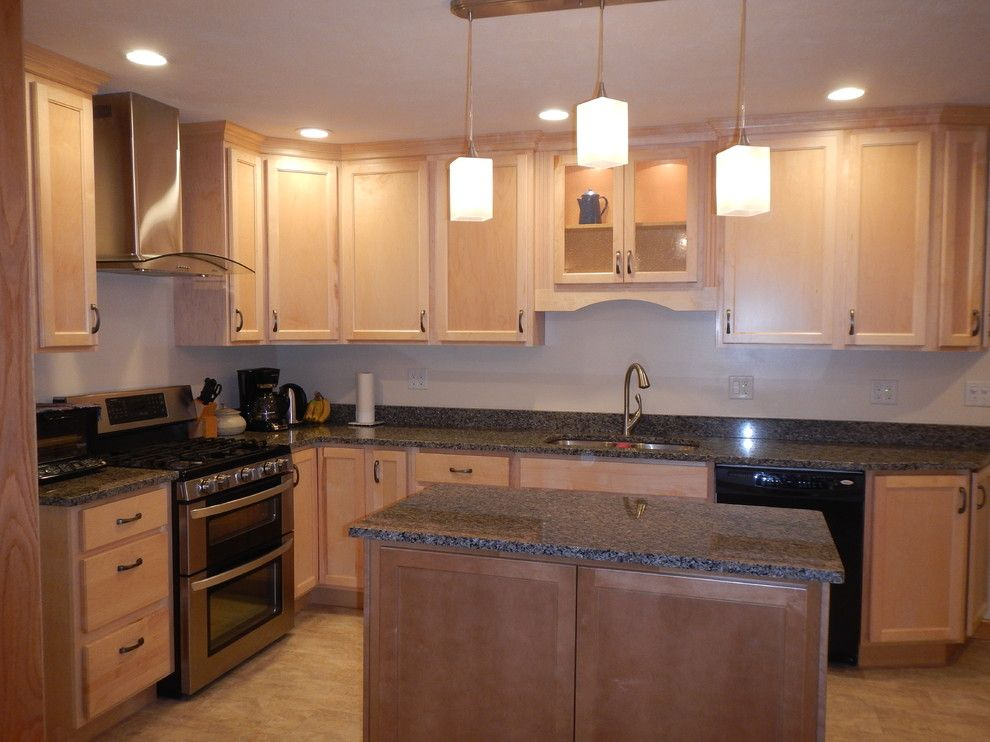 Lowes Peoria Il for a Transitional Kitchen with a Caledonia Granite and Kitchen Renovation   Edwards Il by Lowes of Peoria, Il