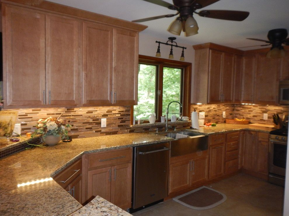 Lowes Peoria Il for a Transitional Kitchen with a Farm Sink and Kitchen Renovation   Varna Il by Lowes of Peoria, Il