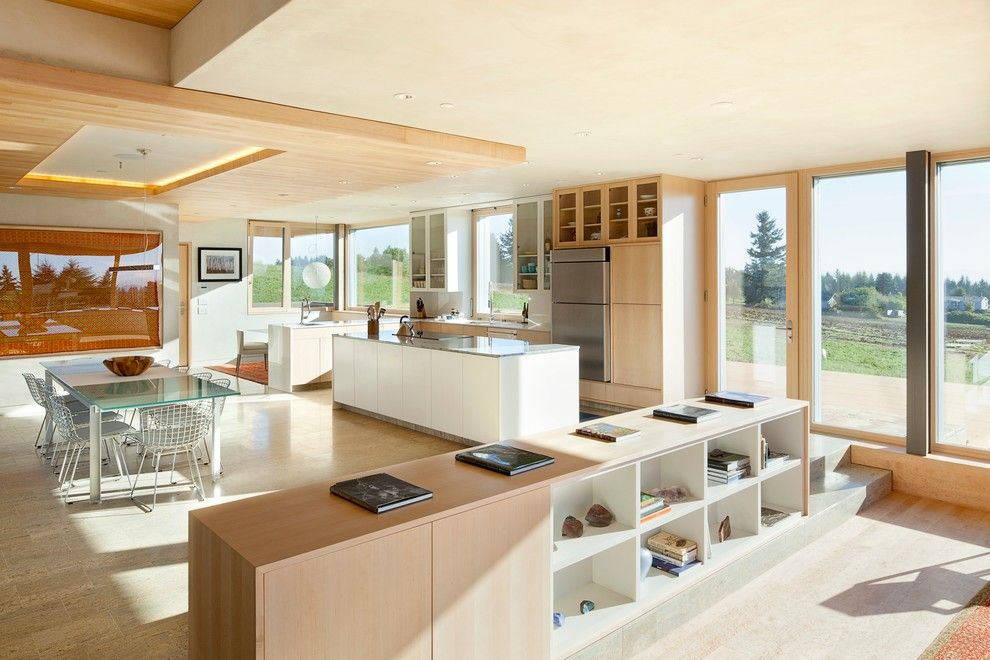 Lowes Portland Maine for a Contemporary Kitchen with a Natural Finishes and Karuna Passive House by Hammer & Hand