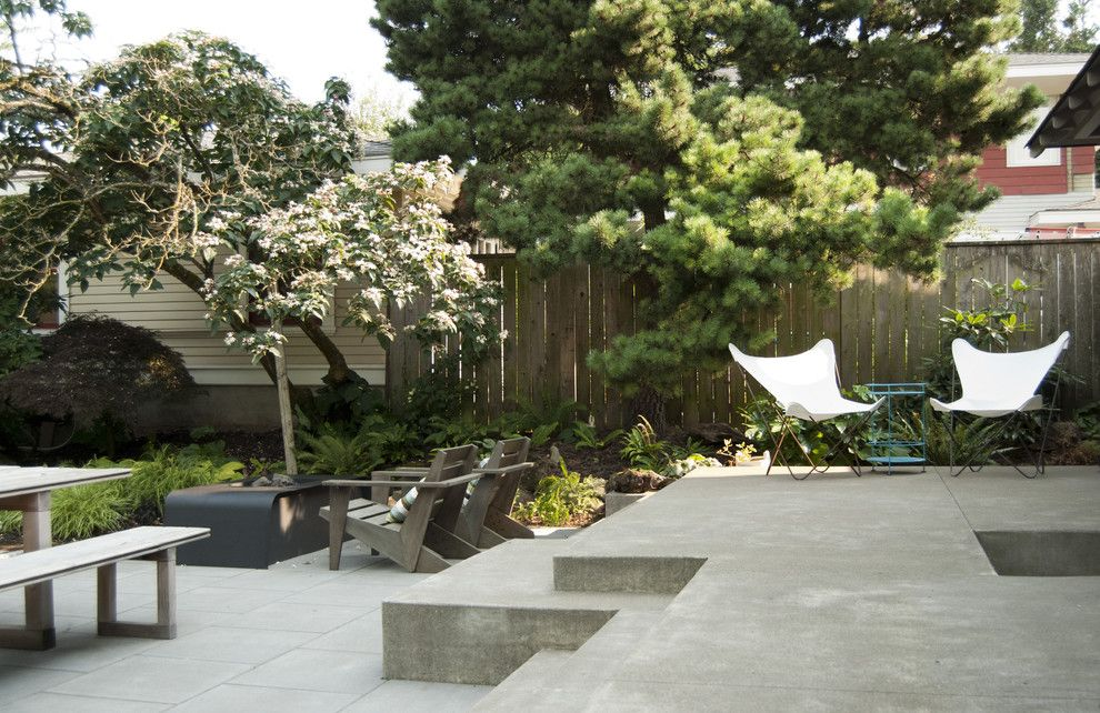 Lowes Portland Maine for a Contemporary Patio with a Steps and Modern Portland Landscape by Risa Boyer Architecture