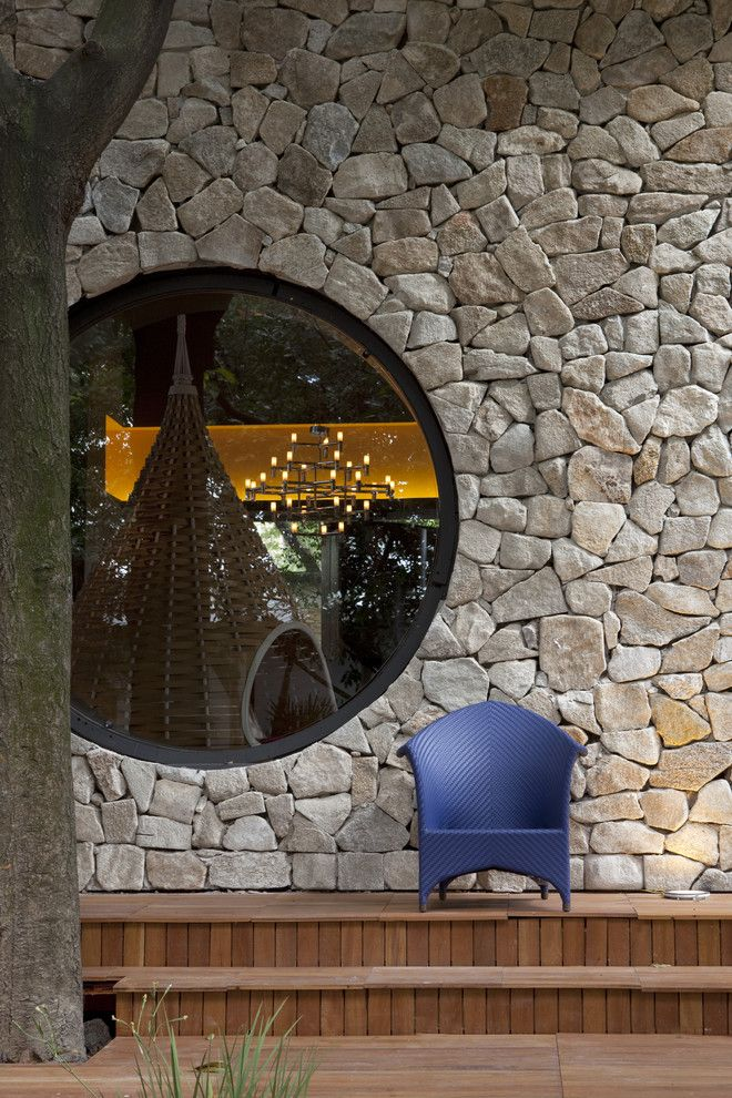 Lowes Round Rock for a Modern Exterior with a Chair and Fabio Galeazzo Brazil by Marco Antunio