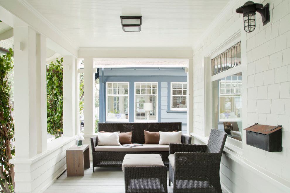 Lowes Santa Fe for a Beach Style Porch with a Clapboard and Santa Monica Beach House by Evens Architects