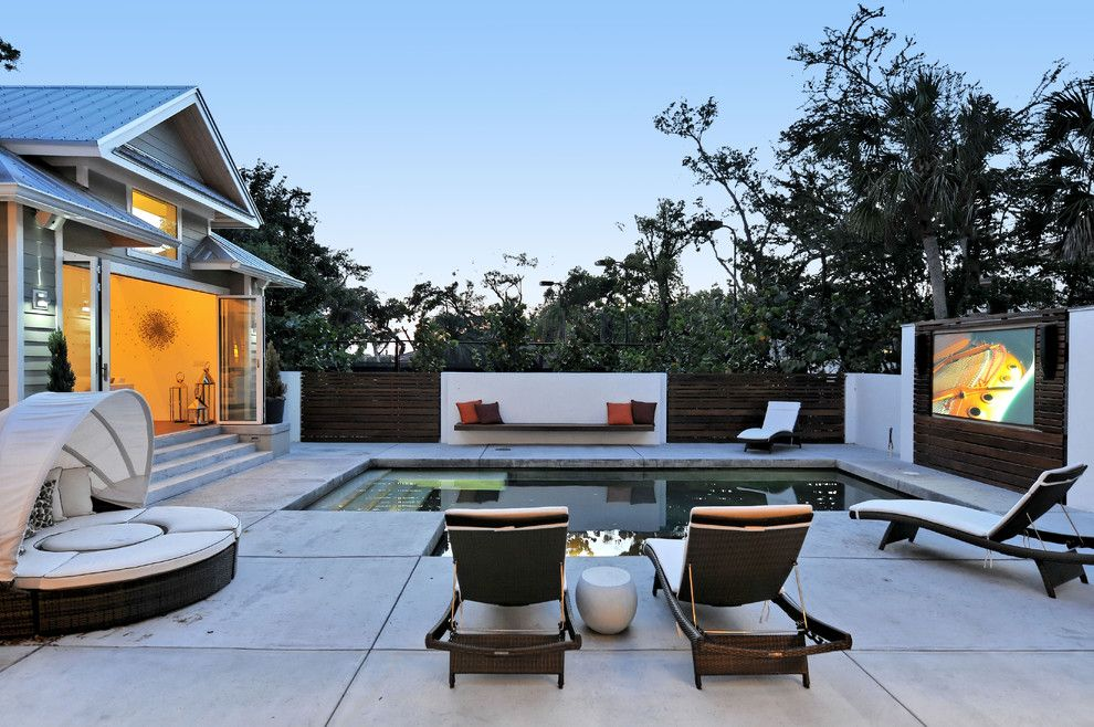 Lowes Sarasota for a Contemporary Pool with a Led Outdoor Landscape Lighting and 2012 Home of the Year   Best Outdoor Space by Smarthouse Integration Llc