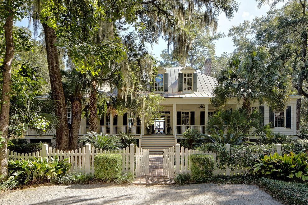 Lowes Sarasota for a Traditional Exterior with a Metal Roof and Classic Lowcountry Residence | Spring Island, South Carolina by Historical Concepts