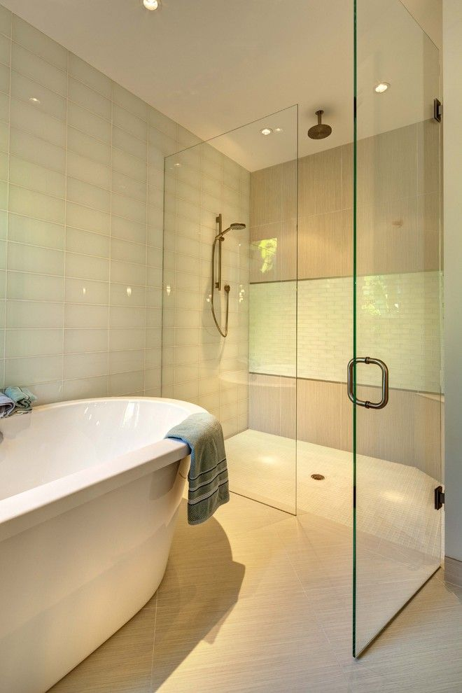 Lowes Sarasota for a Tropical Bathroom with a Tub and Lido Tropical by Clifford M. Scholz Architects Inc.