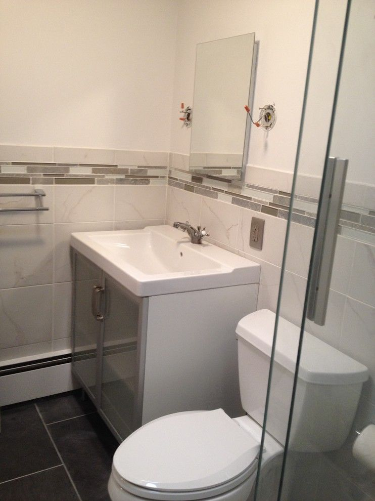 Lowes Seekonk for a Modern Spaces with a Gray and Modern Bathroom by Lowes of Seekonk, Ma