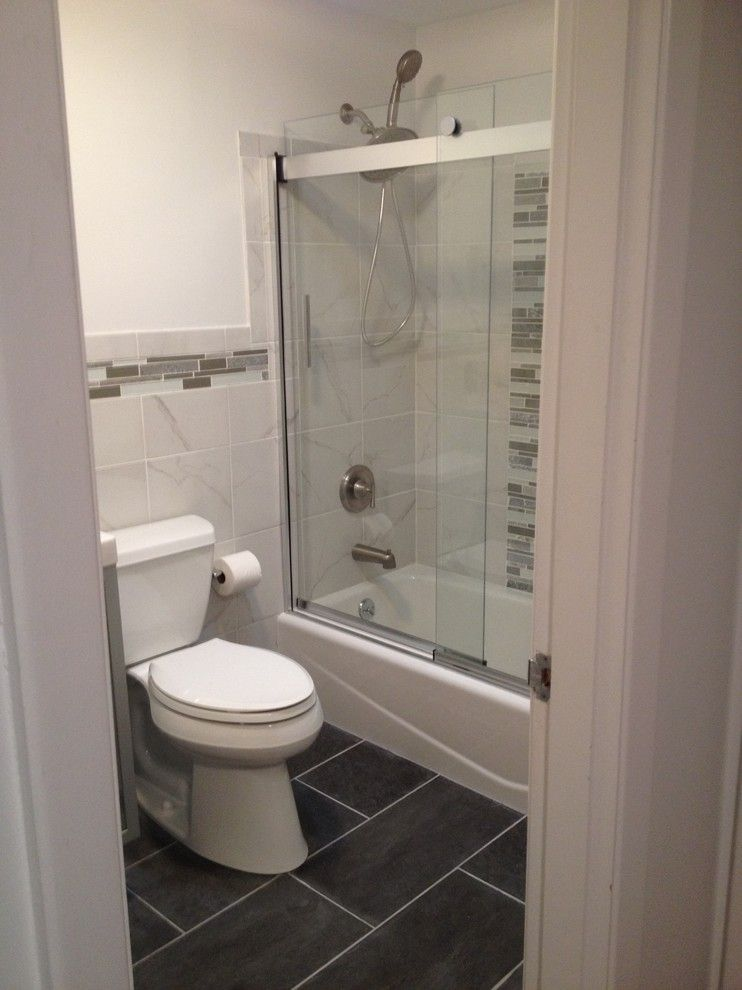 Lowes Seekonk for a Modern Spaces with a Remodel and Modern Bathroom by Lowes of Seekonk, Ma
