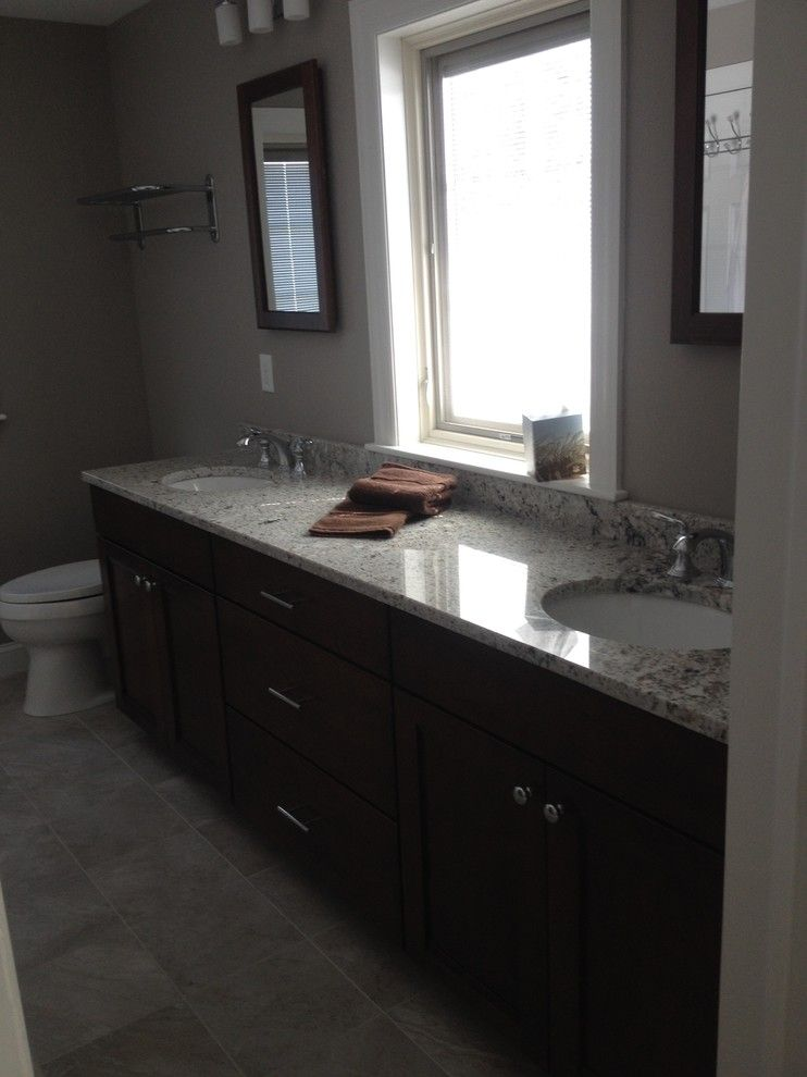 Lowes Seekonk for a Traditional Spaces with a Brown and Large New Bathroom Barrington by Lowes of Seekonk, Ma