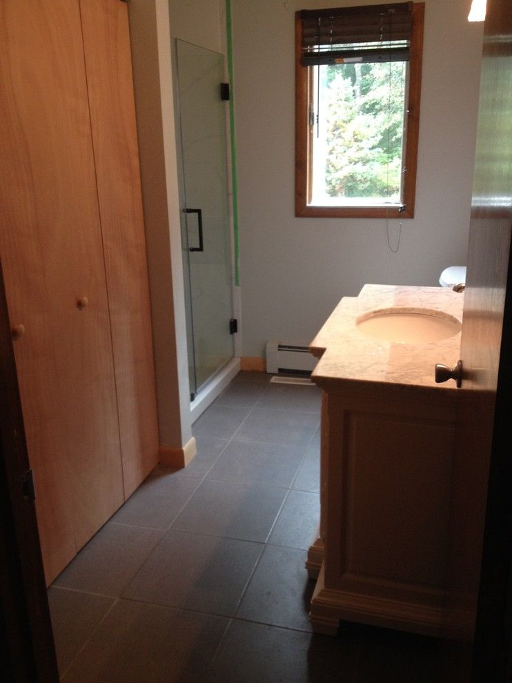 Lowes Seekonk for a Traditional Spaces with a Glass Shower Door and Bathroom Remodel Bristol by Lowes of Seekonk, Ma