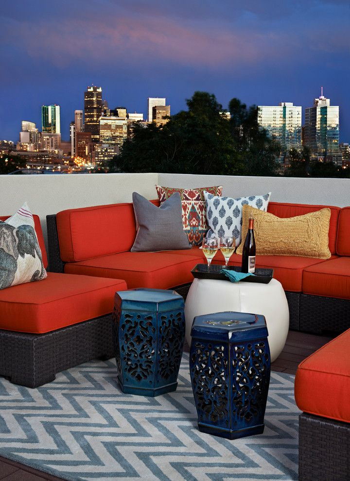 Lowes Sioux City for a Eclectic Deck with a Red Cushions and Lohi Private Residence by Andrea Schumacher Interiors