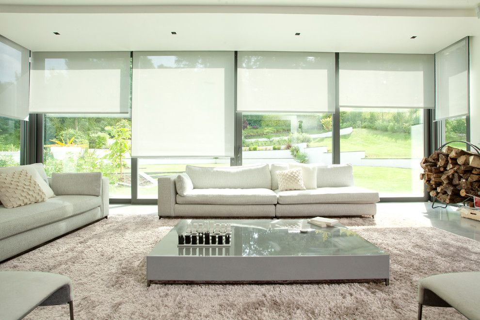 Lowes Sioux Falls for a Modern Living Room with a Window Wall and Somfy by Somfy