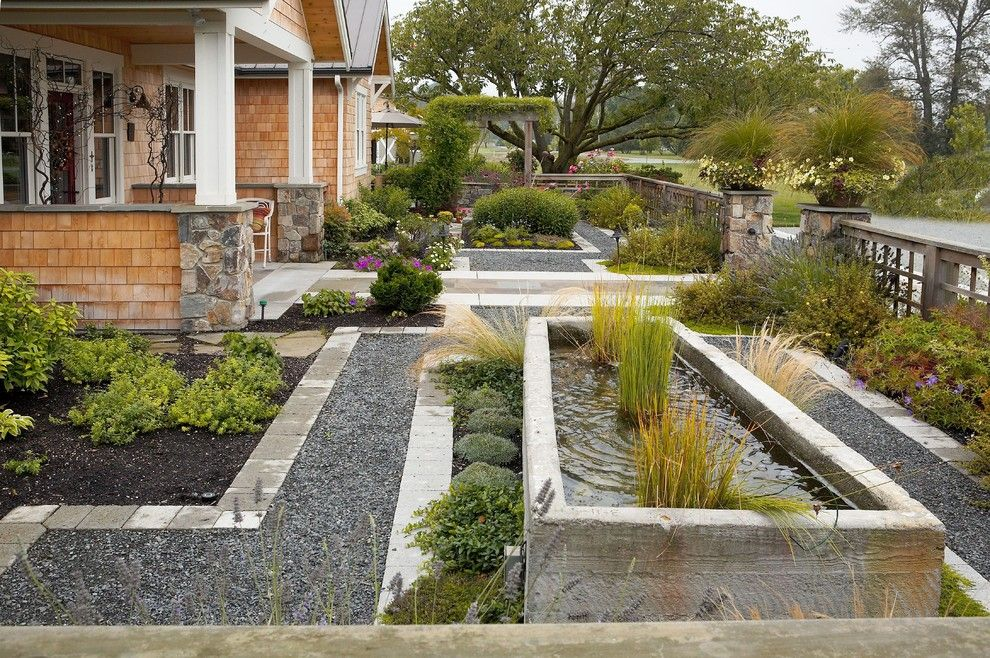 Lowes State College for a Traditional Landscape with a Water Feature and Entry Courtyard by Lankford Associates Landscape Architects