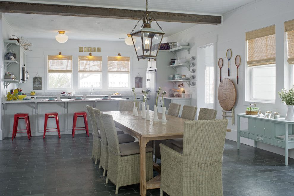 Lowes State College Pa for a Beach Style Dining Room with a Great Room and Dining by Rethink Design Studio