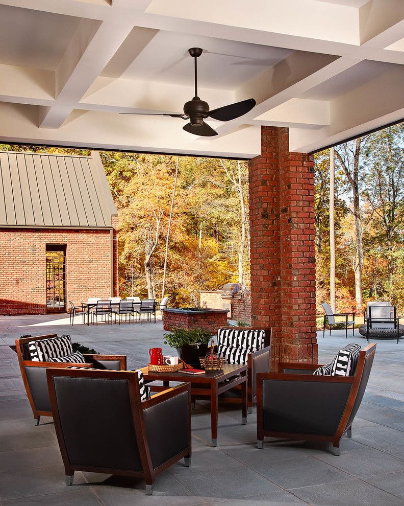 Lowes State College Pa for a Transitional Patio with a Pavers and Chancellor's Residence, Nc State University by Dustin.peck.photography.inc