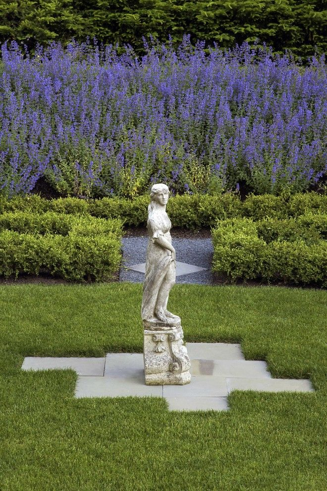 Lowes Statesboro for a Traditional Landscape with a Statue and Historic Garden Restoration in Wilmette, Illinois by Schmechtig Landscapes