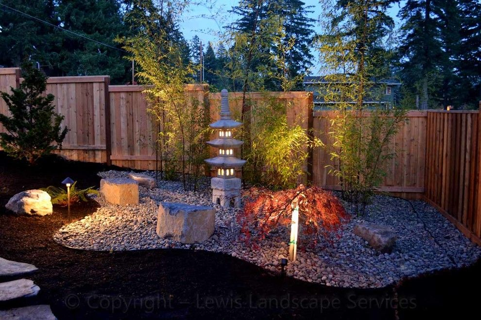 Lowes Tigard for a Asian Landscape with a Landscaper and Asian Garden / Japanese Garden by Lewis Landscape Services, Inc.