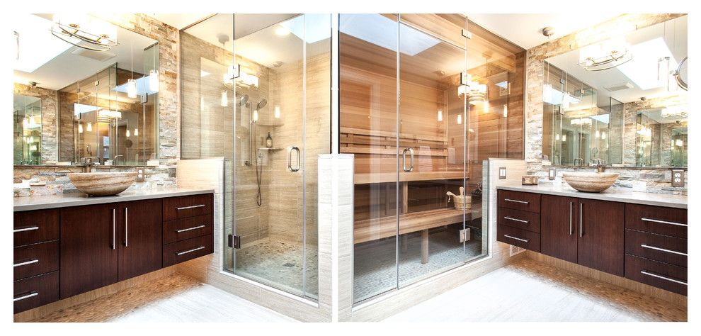 Lowes Tigard for a Contemporary Bathroom with a Low Voltage Lighting and Tigard Treehouse   Sauna Oasis by Northland Design & Build