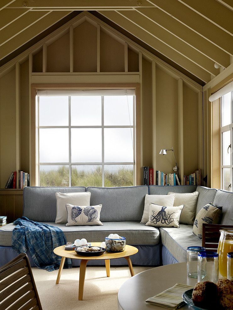 Lowes Twin Falls for a Beach Style Living Room with a Nautical and Stinson Beach House by Butler Armsden Architects