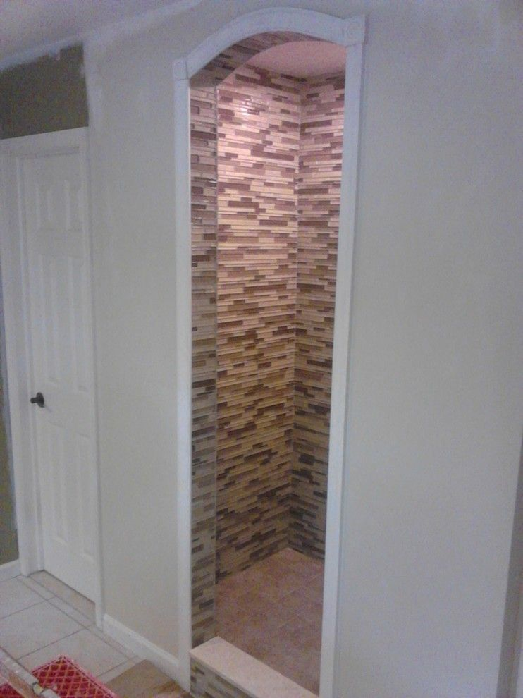 Lowes Whitehall Pa for a Contemporary Spaces with a Glass Tile Shower and Allentown Sweeney Custom Shower by Lowe's of Whitehall, Pa