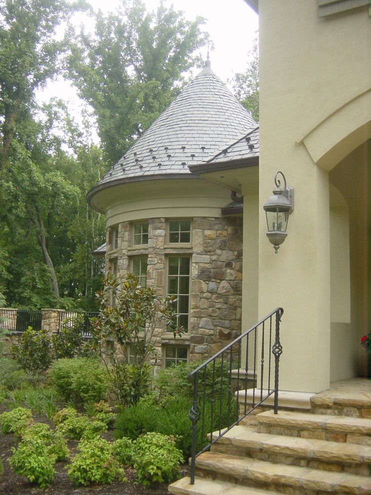 Luckstone for a Traditional Exterior with a Tower and Lockland Road Project by Bryan Whittington