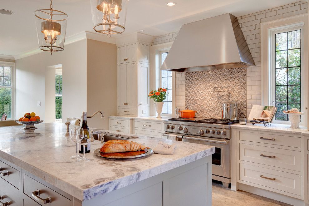 Transitional White Kitchen Cabinets luna pearl granite for a contemporary kitchen with a shaker