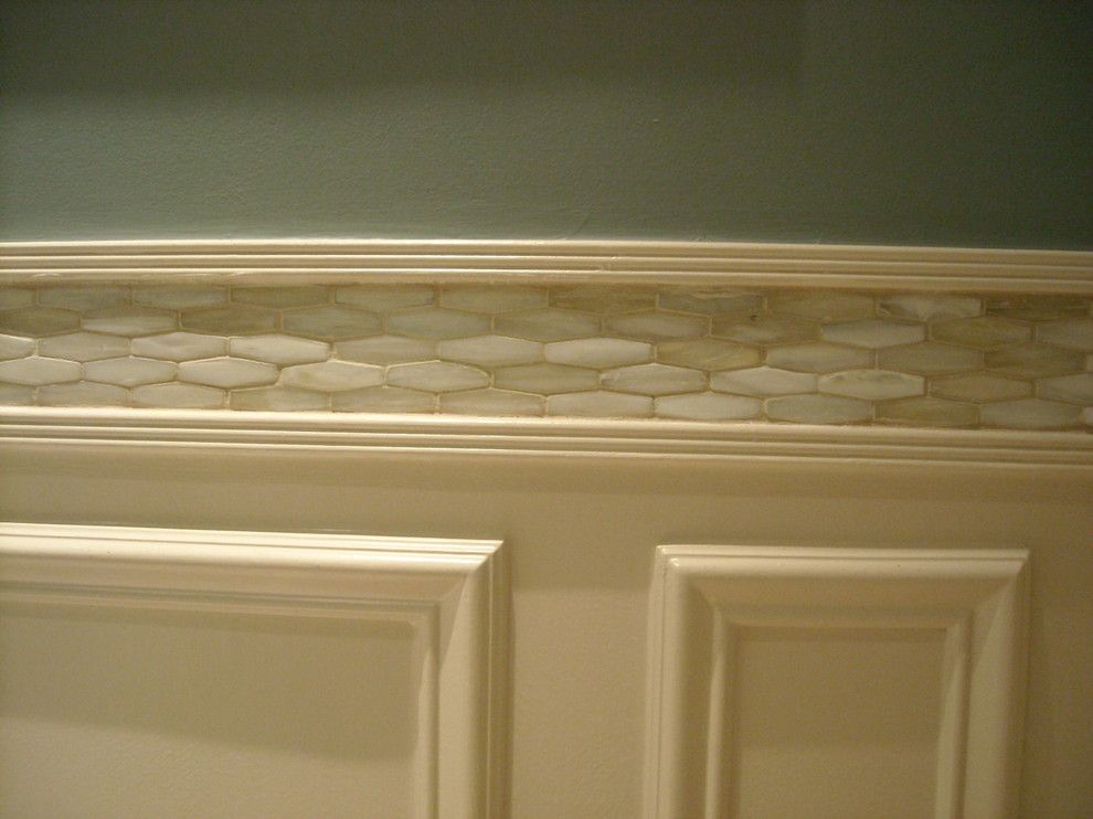 Lunada Bay Tile for a Traditional Powder Room with a Art and Elegant Powder Room Remodel by Susannah West Interior Design