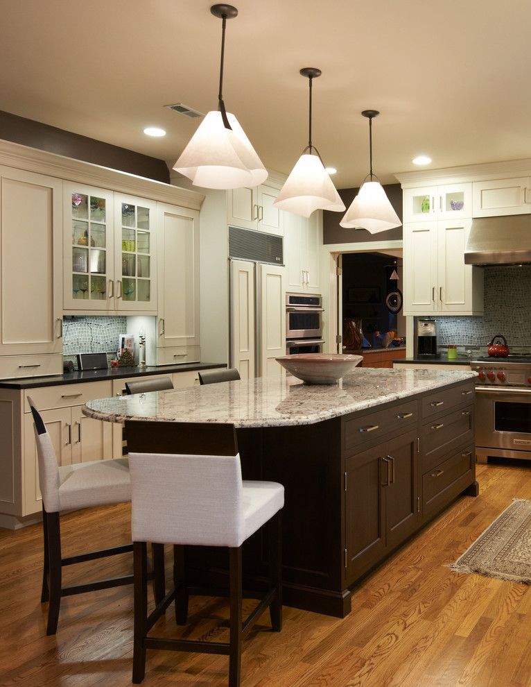 Lunada Bay Tile for a Transitional Kitchen with a White Cabinetry and Rio Kitchen Backsplash by Lunada Bay Tile