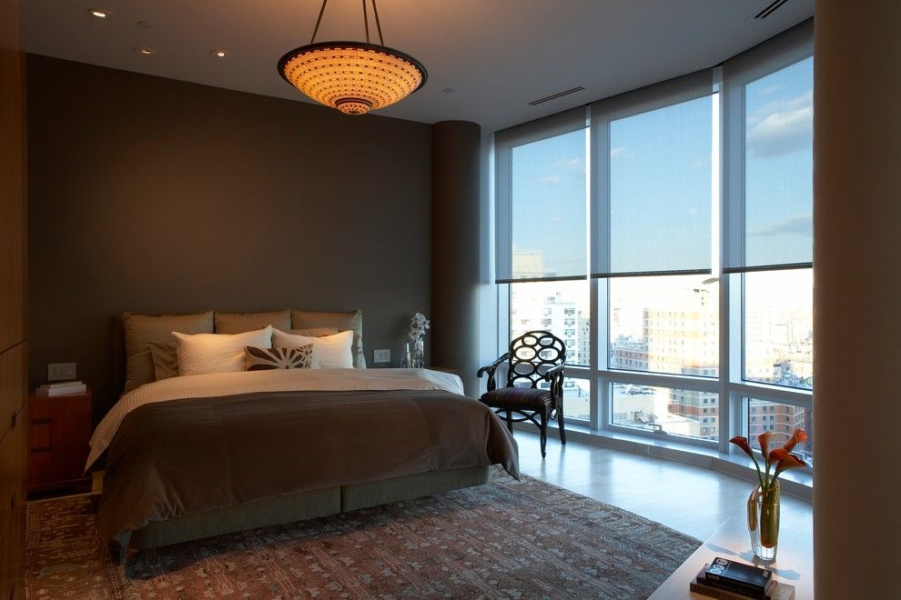 Lutron Electronics for a Modern Spaces with a Serena Shades and Beautiful Shades for the Bedroom by Lutron Electronics