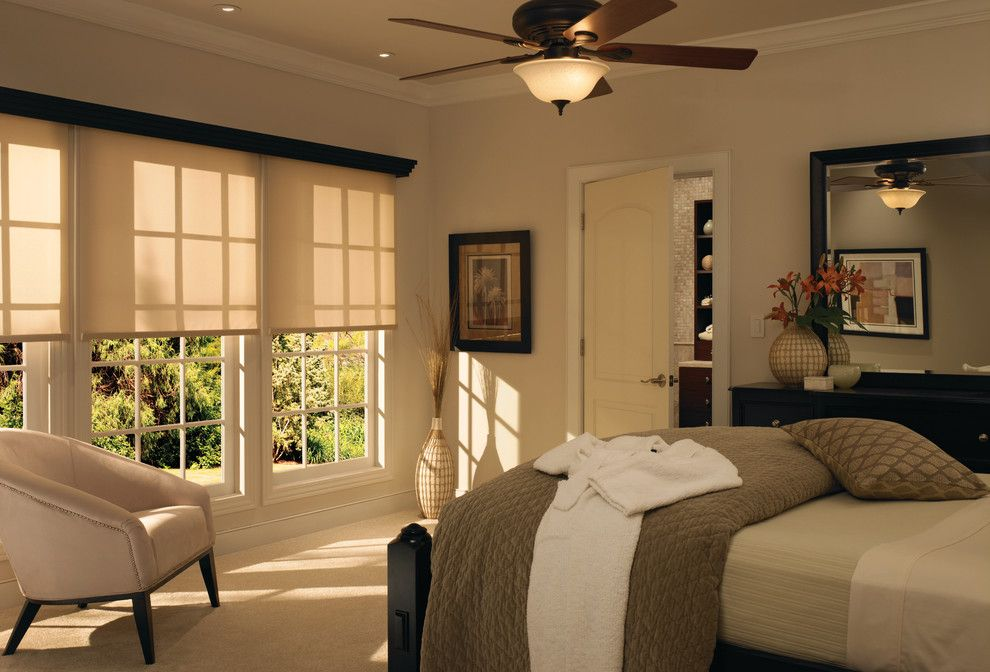 Lutron Electronics for a Modern Spaces with a Serena Shades and Open the Shades by Lutron Electronics
