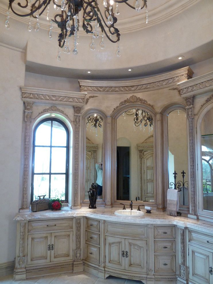Luxart for a Mediterranean Bathroom with a Chic Bathroom and High End & Luxurious Bathrooms Built by Fratantoni Luxury Estates by Fratantoni Luxury Estates