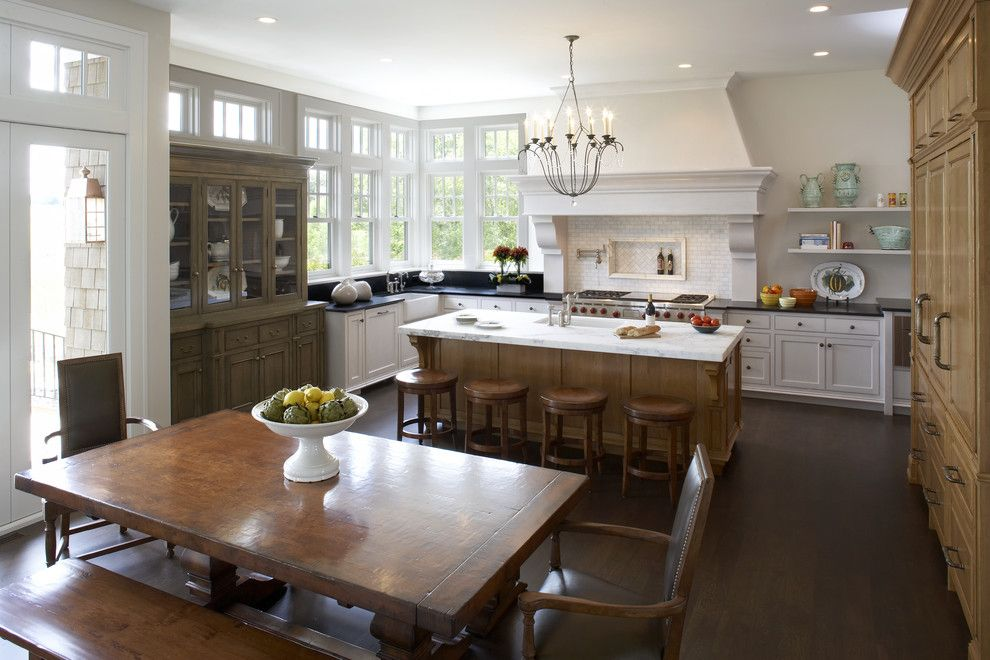 Luxart for a Traditional Kitchen with a Built in Hutch and L. Cramer Builders + Remodelers by L. Cramer Builders + Remodelers