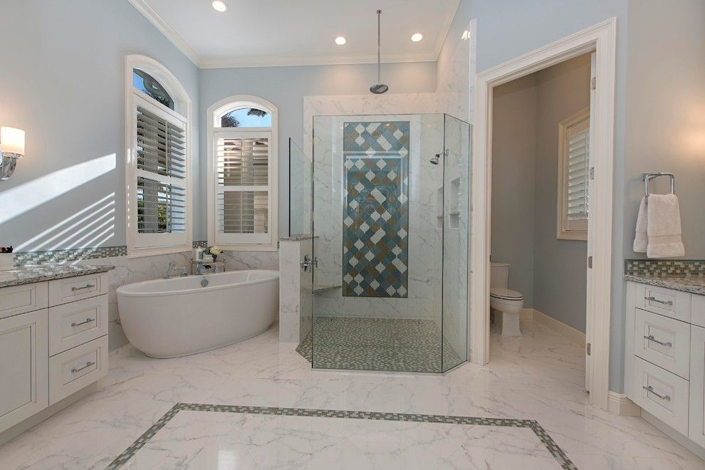 Lykos for a Traditional Bathroom with a Master Bath and Master Bath - Royal Harbor by the Lykos Group, Inc.