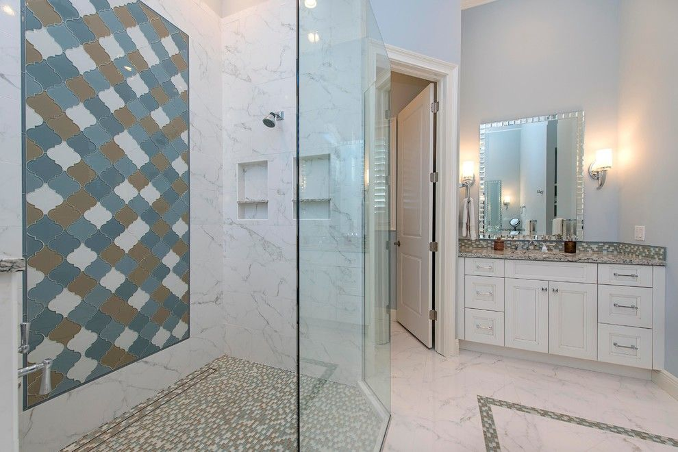 Lykos for a Traditional Spaces with a Master Bath and Master Bath   Royal Harbor by the Lykos Group, Inc.