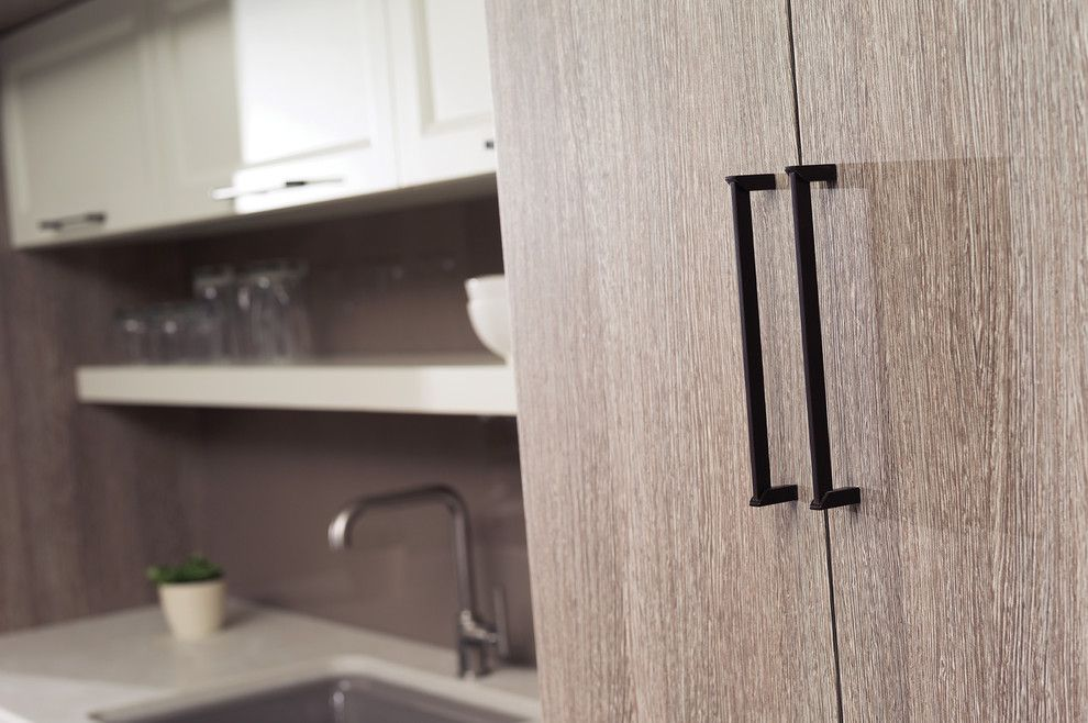 Lynden Door for a Contemporary Spaces with a Contemporary Cabinets and a Perfect Blend of Texture and Simplicity by Dura Supreme Cabinetry