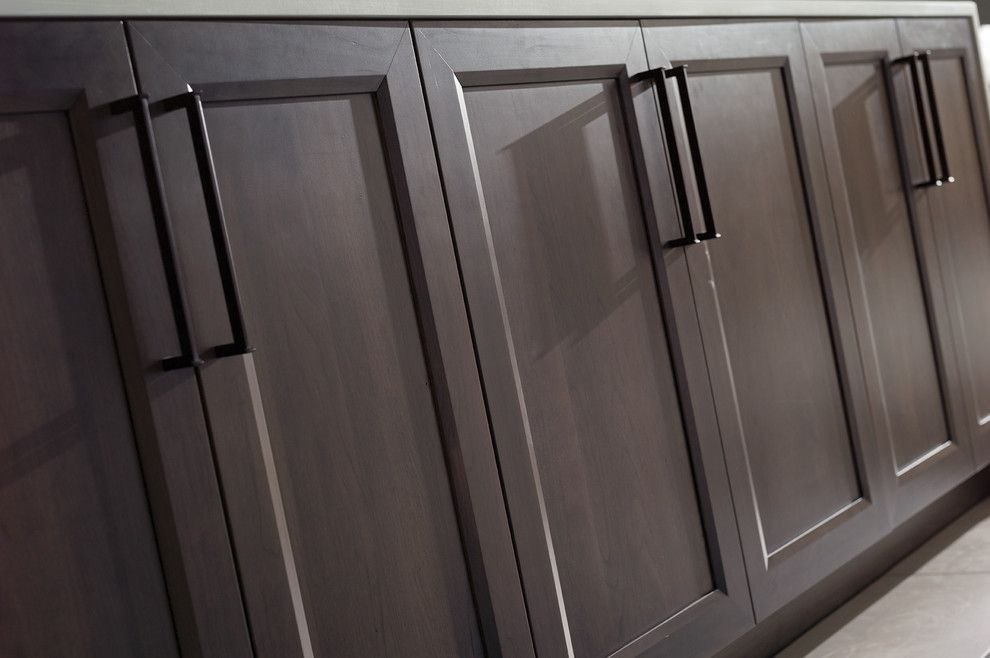 Lynden Door for a Contemporary Spaces with a Gray and a Perfect Blend of Texture and Simplicity by Dura Supreme Cabinetry