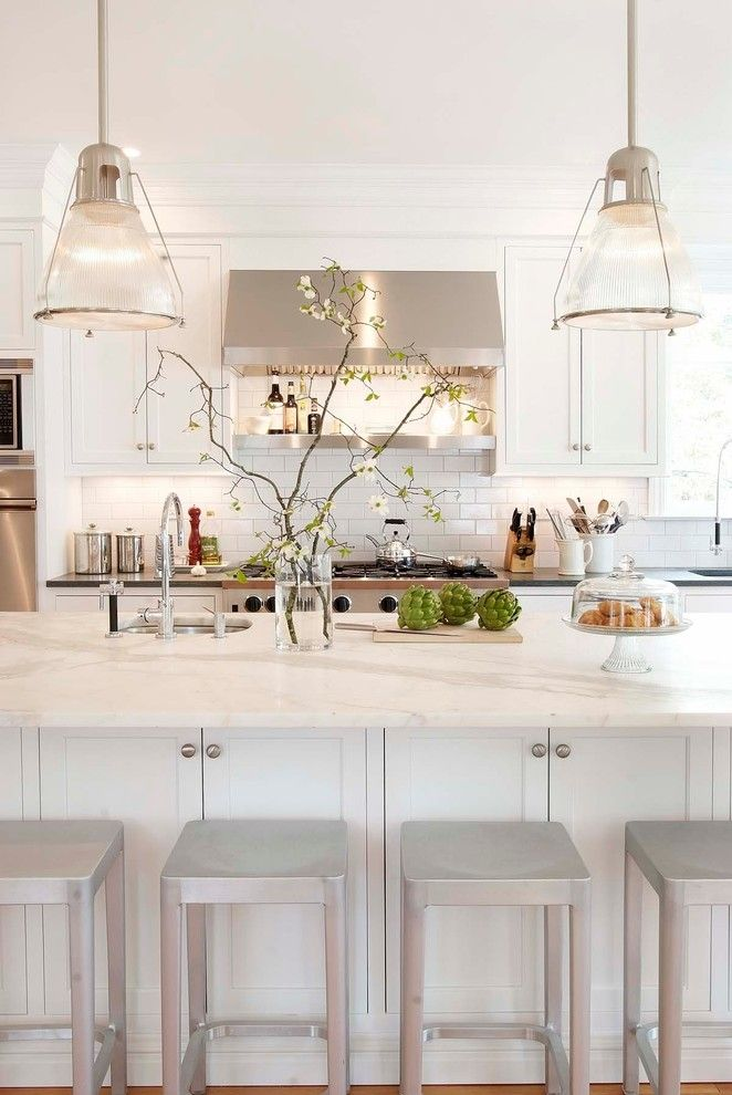 Mailboxes Near Me for a Traditional Kitchen with a White Cabinet and Classical Kitchen by Pickell Architecture