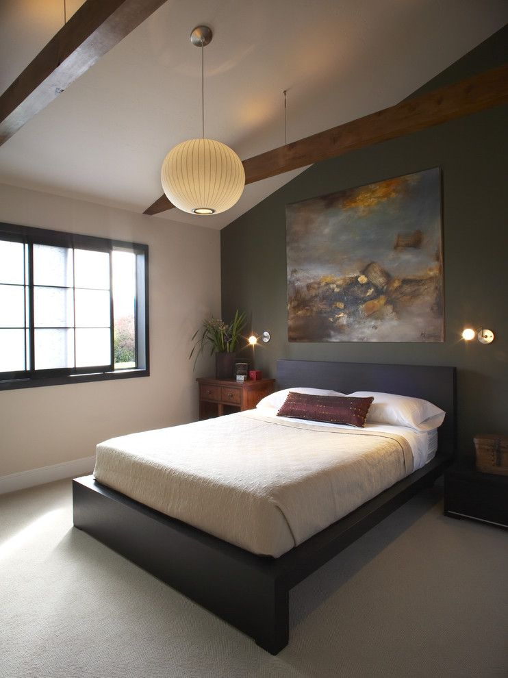 Malm Bed Frame for a Asian Bedroom with a Low Profile Bed and Bedroom by Harrell Remodeling