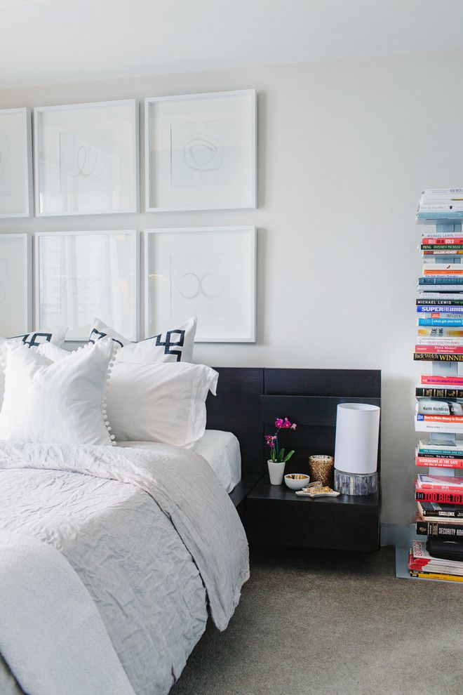 Malm Bed Frame for a Contemporary Bedroom with a Framed Art and Cityplace Condo by Nest Design Studio