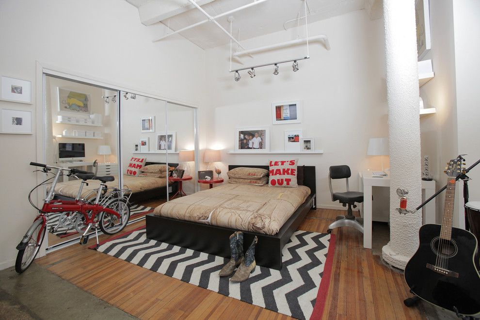 Malm Bed Frame for a Eclectic Bedroom with a Photos Ledge and Von Hagel by Valerie Mccaskill Dickman
