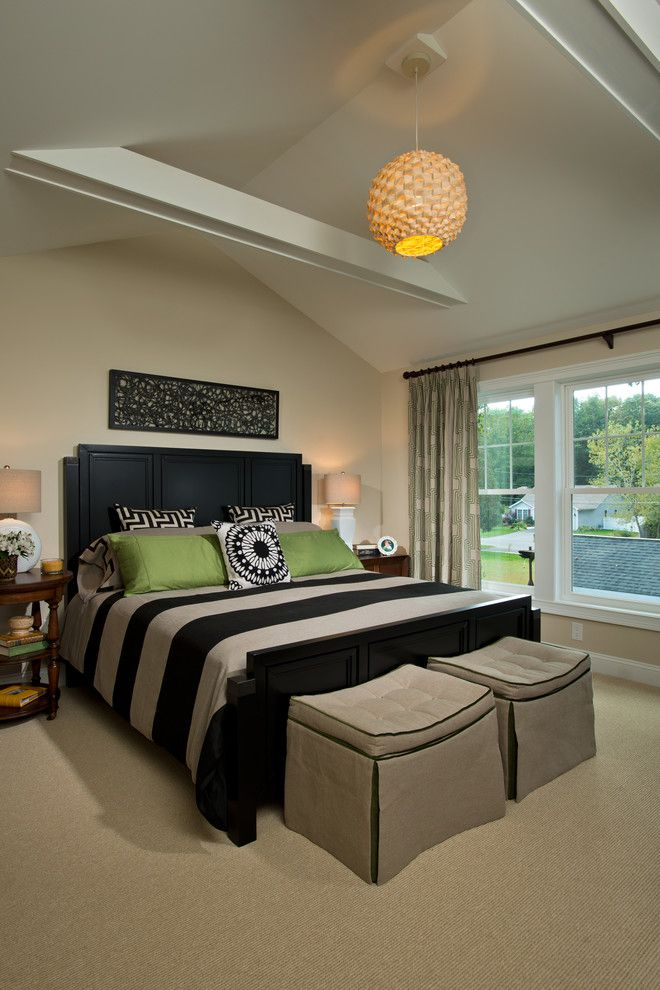 Malm Bed Frame for a Traditional Bedroom with a Pendant Light and 2013 Showcase of Homes by Belmonte Builders