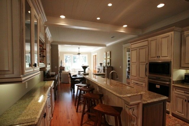 Malouf Furniture for a Traditional Kitchen with a Craftsman and 2010 Parade Home by Bob Chatham Custom Home Design