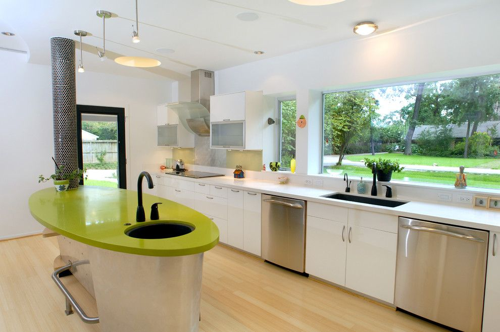 Mannington Commercial for a Eclectic Kitchen with a Picture Window and Leed Gold   Houston by Rd Architecture, Llc