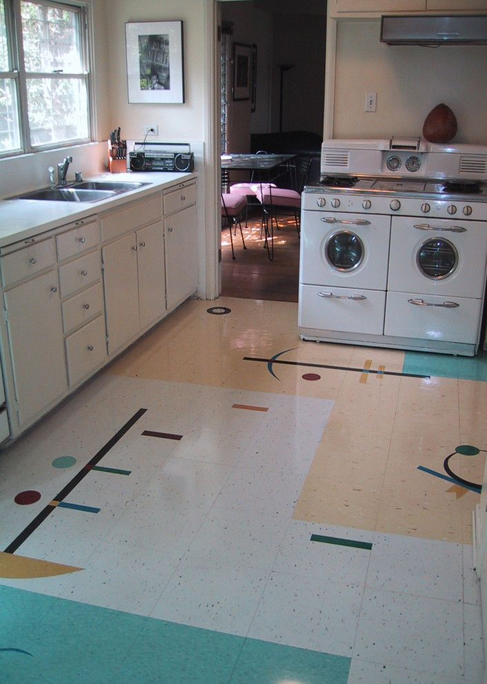 Mannington Commercial for a Midcentury Kitchen with a Armstrong Flooring and My Friend's Floor by Crogan Inlay Floors