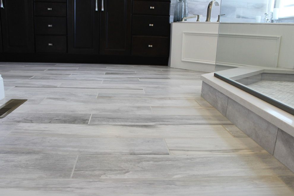 Mannington Commercial for a Modern Bathroom with a Waterfall and Falling Water Porcelain Tile Collection by Best Tile