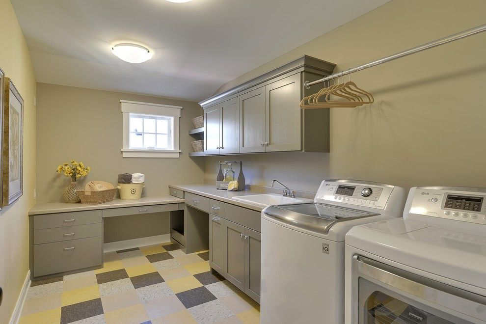 Mannington Commercial for a Traditional Laundry Room with a Hangers and 2013 Fall Parade of Homes by Highmark Builders