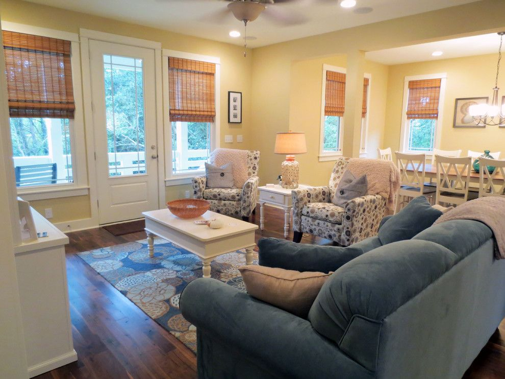 Manteo Furniture for a Beach Style Living Room with a Asia Evans Artistry and the Barker's Getaway by Obx Interiors