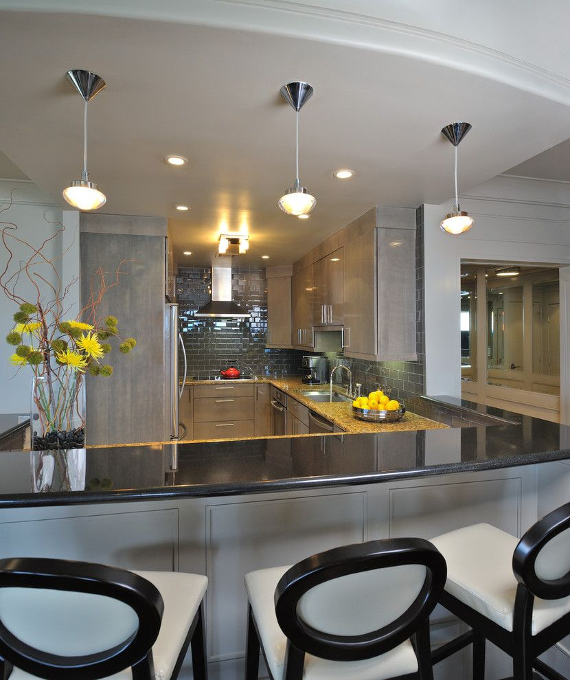 Manteo Furniture for a Contemporary Kitchen with a Sofffit and Harati Residence by Montgomery Roth Architecture & Interior Design