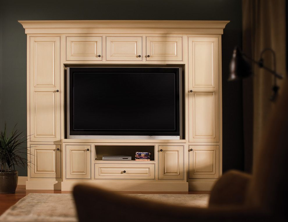 Maple Grove Theater for a Traditional Home Theater with a Custom Cabinetry and Fashionable Entertainment by Dura Supreme Cabinetry